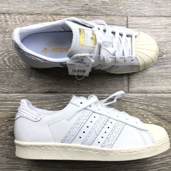 f547d8353719 Adidas Superstar 80s snake effect leather sneakers